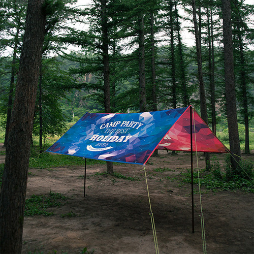 캠퍼몬스터 Campermonster 듀얼 렉타 - 블루/퍼플  Camp Party Dual Recta Tarp - B/P