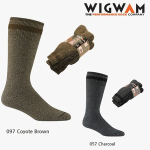 위그암 Wigwam Super Boot 2-Pack S1200 (057 Charcoal) /울양말/등산양말
