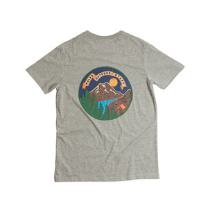 폴러 스터프 POLER STUFF 캠프타임 TEE CAMP TIME HEATHER GREY