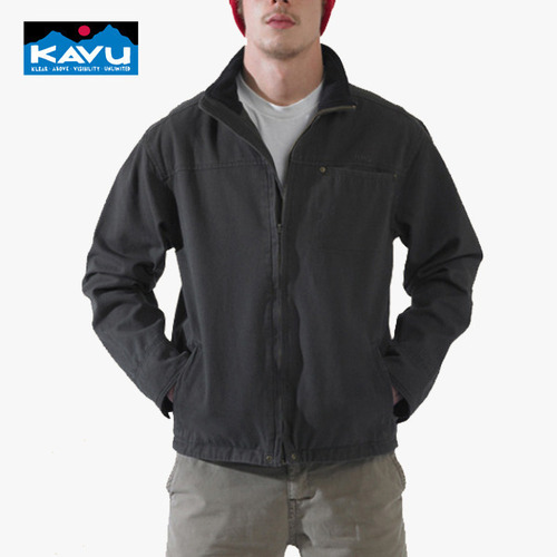 카부 KAVU 캐차 캔 자켓 Ketch a Can Jacket - Black Olive