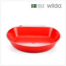 윌도 Wildo 캠핑용 깊은 접시 - 레드